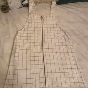 Pinafore Grid Dress